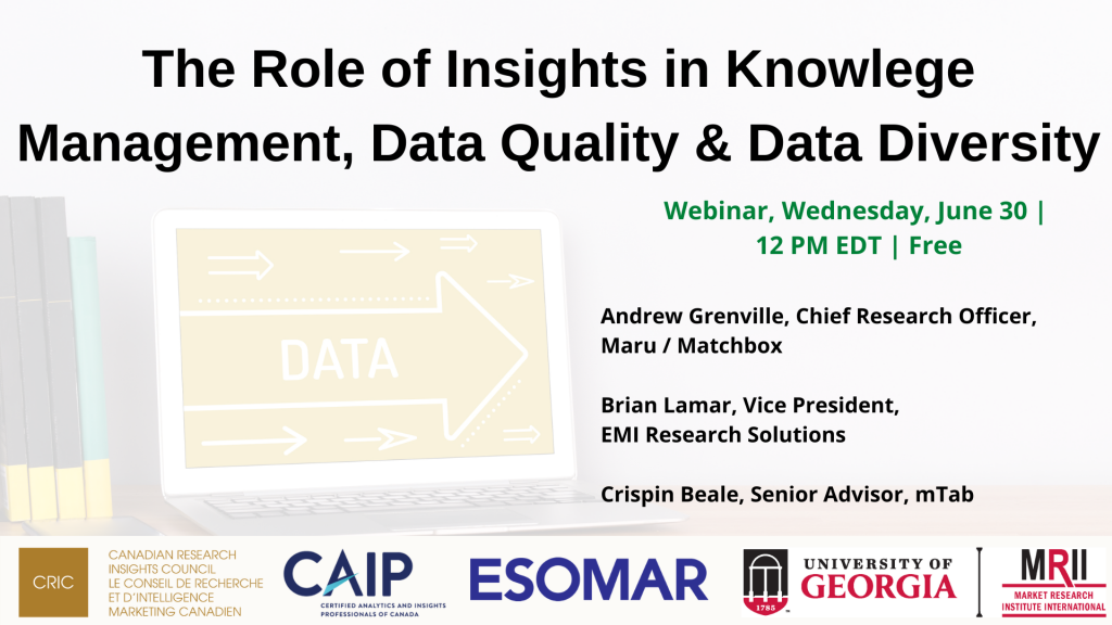 The Role of Insights in Knowledge Management, Data Quality and Data Diversity